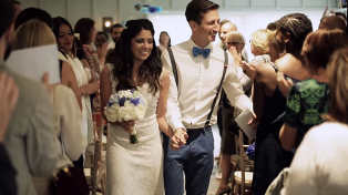Chrysso & Vojin's wedding video at the Gallivant, East Sussex by Jumping Spider Films