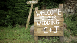 Charlotte and John's wedding video at Braziers Park, Oxfordshire.