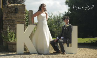 Creative Wedding video at the Great Tythe Barn, Cotswolds